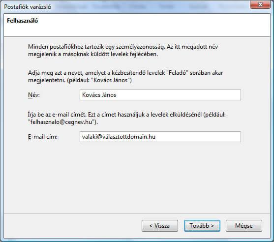 Mozilla Thunderbird levelezőkliens beállítása