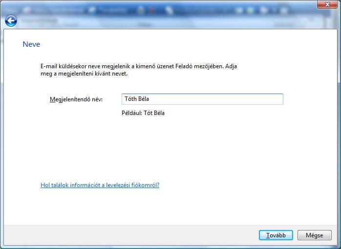 Windows Live Mail levelezőkliens beállítása