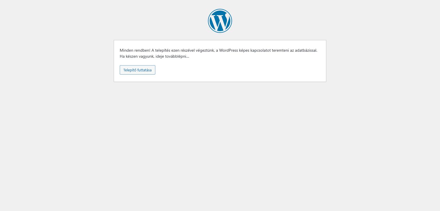 Wordpress telepítés